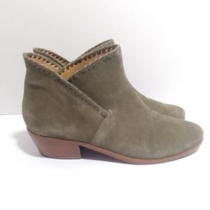 Jack Rogers Sadie green suede ankle boots